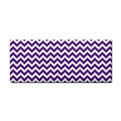 Purple And White Zigzag Pattern Hand Towel