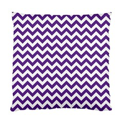 Purple And White Zigzag Pattern Cushion Case (Two Sided)
