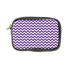 Purple And White Zigzag Pattern Coin Purse