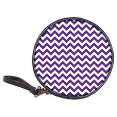 Purple And White Zigzag Pattern Cd Wallet