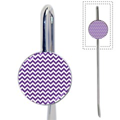 Purple And White Zigzag Pattern Bookmark