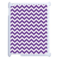 Purple And White Zigzag Pattern Apple Ipad 2 Case (white)