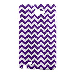 Purple And White Zigzag Pattern Samsung Galaxy Note 1 Hardshell Case