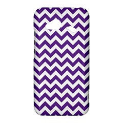 Purple And White Zigzag Pattern HTC Droid Incredible 4G LTE Hardshell Case