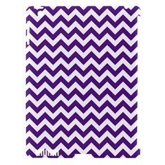 Purple And White Zigzag Pattern Apple iPad 3/4 Hardshell Case (Compatible with Smart Cover)