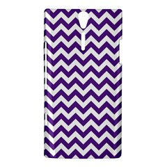 Purple And White Zigzag Pattern Sony Xperia S Hardshell Case