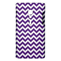 Purple And White Zigzag Pattern Sony Xperia ion Hardshell Case