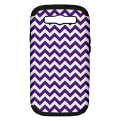 Purple And White Zigzag Pattern Samsung Galaxy S Iii Hardshell Case (pc+silicone)