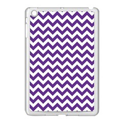 Purple And White Zigzag Pattern Apple Ipad Mini Case (white)