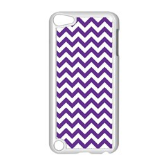Purple And White Zigzag Pattern Apple Ipod Touch 5 Case (white)