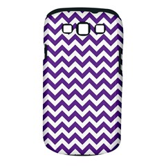 Purple And White Zigzag Pattern Samsung Galaxy S Iii Classic Hardshell Case (pc+silicone)