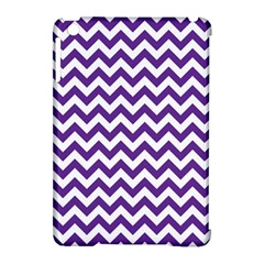 Purple And White Zigzag Pattern Apple iPad Mini Hardshell Case (Compatible with Smart Cover)