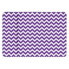 Purple And White Zigzag Pattern Samsung Galaxy Tab 8 9  P7300 Flip Case