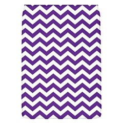 Purple And White Zigzag Pattern Removable Flap Cover (Small)