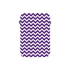 Purple And White Zigzag Pattern Apple iPad Mini Protective Sleeve