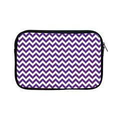 Purple And White Zigzag Pattern Apple iPad Mini Zippered Sleeve