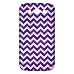 Purple And White Zigzag Pattern Samsung Galaxy Mega 5.8 I9152 Hardshell Case