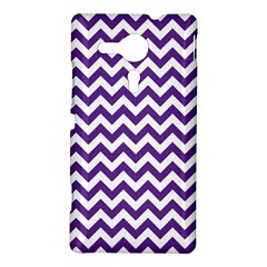 Purple And White Zigzag Pattern Sony Xperia SP M35H Hardshell Case