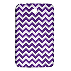 Purple And White Zigzag Pattern Samsung Galaxy Tab 3 (7 ) P3200 Hardshell Case