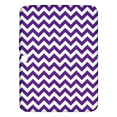 Purple And White Zigzag Pattern Samsung Galaxy Tab 3 (10.1 ) P5200 Hardshell Case