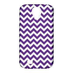 Purple And White Zigzag Pattern Samsung Galaxy S4 Classic Hardshell Case (PC+Silicone)