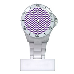 Purple And White Zigzag Pattern Nurses Watch