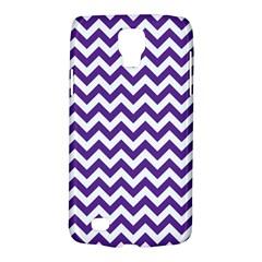 Purple And White Zigzag Pattern Samsung Galaxy S4 Active (I9295) Hardshell Case