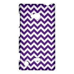 Purple And White Zigzag Pattern Nokia Lumia 720 Hardshell Case