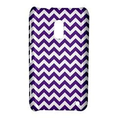 Purple And White Zigzag Pattern Nokia Lumia 620 Hardshell Case