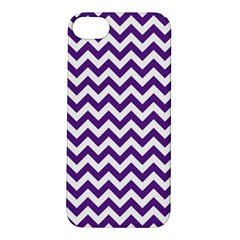 Purple And White Zigzag Pattern Apple iPhone 5S Hardshell Case