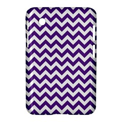 Purple And White Zigzag Pattern Samsung Galaxy Tab 2 (7 ) P3100 Hardshell Case
