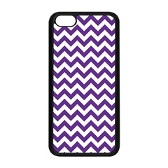 Purple And White Zigzag Pattern Apple iPhone 5C Seamless Case (Black)