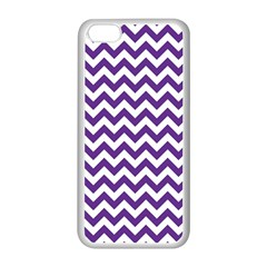 Purple And White Zigzag Pattern Apple iPhone 5C Seamless Case (White)