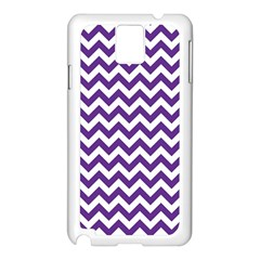 Purple And White Zigzag Pattern Samsung Galaxy Note 3 N9005 Case (White)