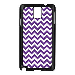 Purple And White Zigzag Pattern Samsung Galaxy Note 3 N9005 Case (black)