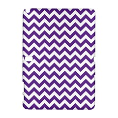 Purple And White Zigzag Pattern Samsung Galaxy Note 10.1 (P600) Hardshell Case