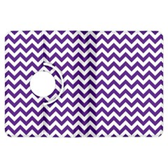 Purple And White Zigzag Pattern Kindle Fire HDX 7  Flip 360 Case