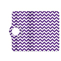 Purple And White Zigzag Pattern Kindle Fire HDX 8.9  Flip 360 Case