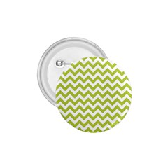 Spring Green And White Zigzag Pattern 1 75  Button
