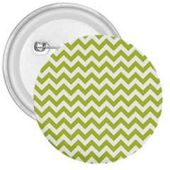 Spring Green And White Zigzag Pattern 3  Button