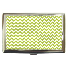 Spring Green And White Zigzag Pattern Cigarette Money Case