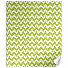 Spring Green And White Zigzag Pattern Canvas 20  x 24  (Unframed)