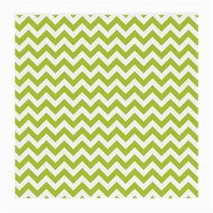 Spring Green And White Zigzag Pattern Glasses Cloth (medium, Two Sided)