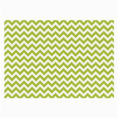 Spring Green And White Zigzag Pattern Glasses Cloth (Large)