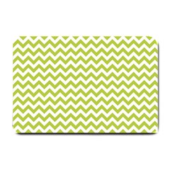 Spring Green And White Zigzag Pattern Small Door Mat