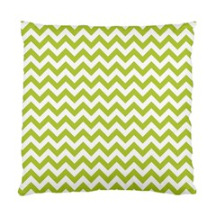 Spring Green And White Zigzag Pattern Cushion Case (Two Sided)