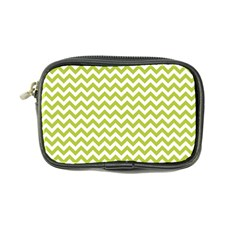Spring Green And White Zigzag Pattern Coin Purse