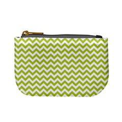 Spring Green And White Zigzag Pattern Coin Change Purse
