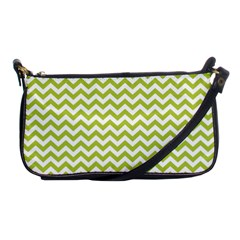 Spring Green And White Zigzag Pattern Evening Bag