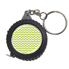Spring Green And White Zigzag Pattern Measuring Tape